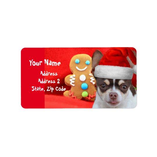 Etiquetas de dirección del perro de la chihuahua
