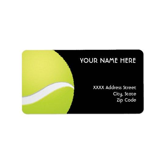 Etiquetas de dirección del tenis