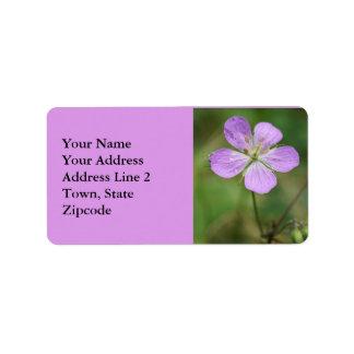 Etiquetas de dirección del Wildflower del rosa del
