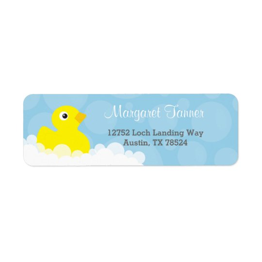 Etiquetas de dirección - diseño Ducky de goma -