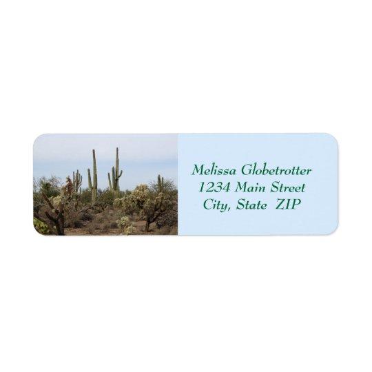 Etiquetas de dirección--Diversos cactus Etiqueta De Remitente