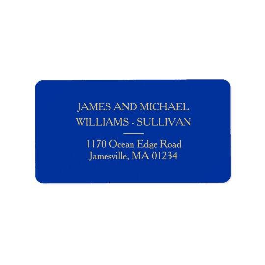 Etiquetas de dirección elegantes de los azules