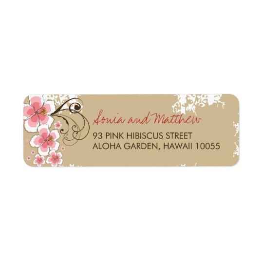 Etiquetas de dirección elegantes del boda del