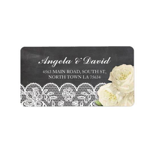 Etiquetas de dirección elegantes rústicas florales