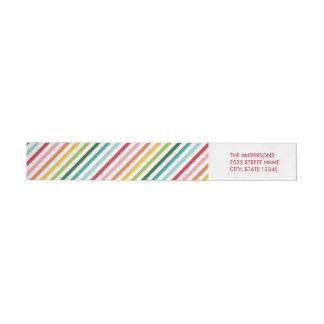 Etiquetas de dirección envueltas del arco iris