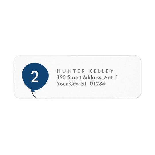 Etiquetas de dirección, globo personalizado de los
