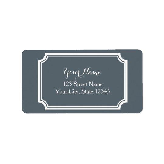 Etiquetas de dirección impresas personalizado con