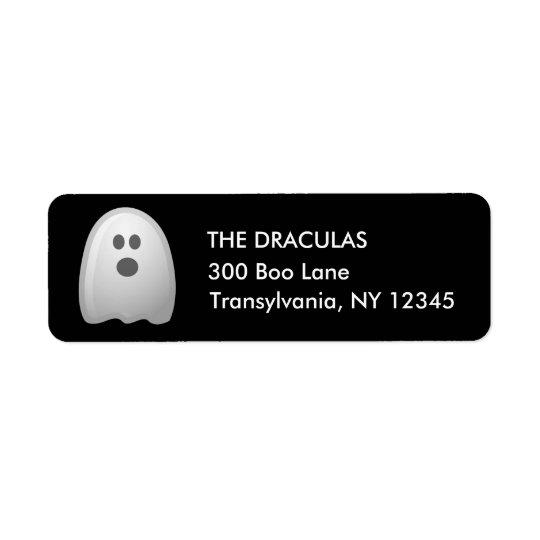Etiquetas de dirección lindas del fantasma de