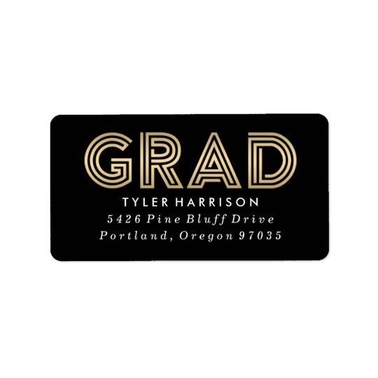 Etiquetas de dirección modernas de la graduación