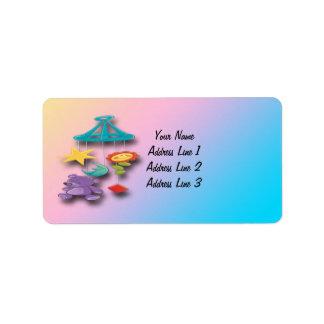Etiquetas de dirección móviles de la fiesta de