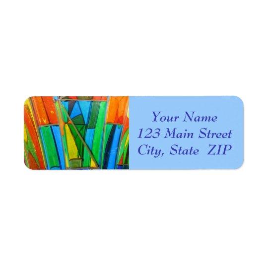 Etiquetas de dirección--Naranja del vidrio de Etiqueta De Remite