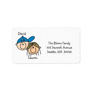 Etiquetas de dirección personalizadas de los pares