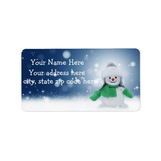 Etiquetas de dirección personalizadas muñeco de