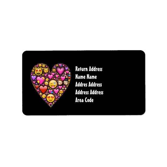 Etiquetas de dirección personalizadas negro rosado