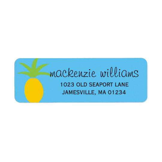 Etiquetas de dirección personalizadas piña