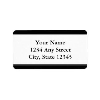 Etiquetas de dirección Pre-Impresas personalizado