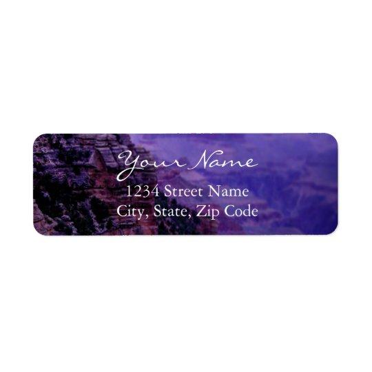 Etiquetas de dirección púrpuras del Gran Cañón