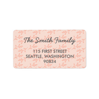 Etiquetas de dirección rosadas coralinas del
