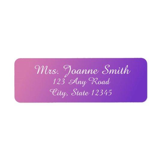 Etiquetas de dirección rosadas/púrpuras