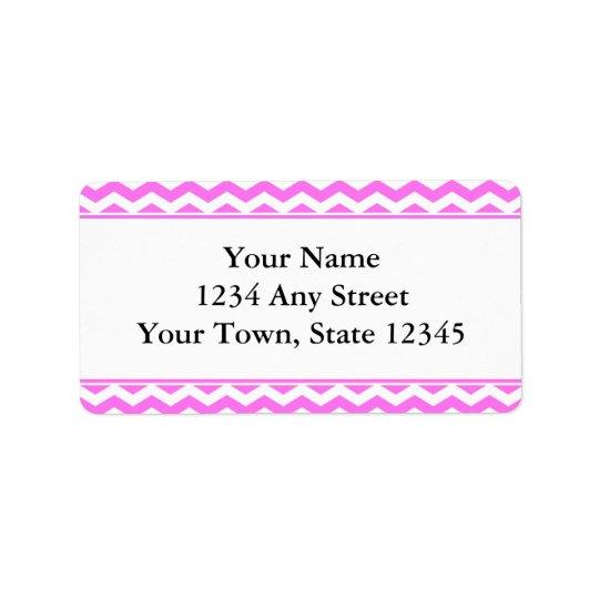 Etiquetas de dirección rosadas y blancas del sobre