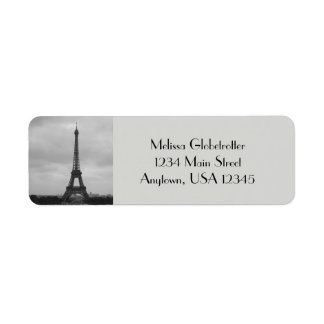 Etiquetas de dirección--Torre de Eifel
