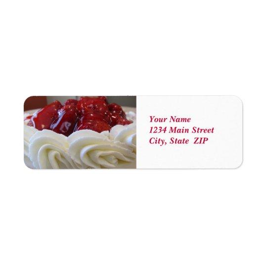 Etiquetas de dirección--Torta de la fresa