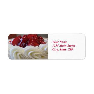 Etiquetas de dirección--Torta de la fresa Etiquetas De Remite