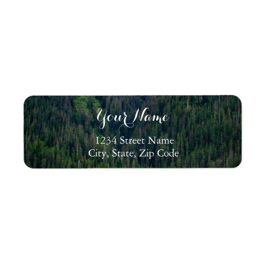 Etiquetas de dirección verdes