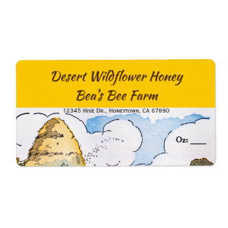 Etiquetas de encargo de la miel de la colmena del