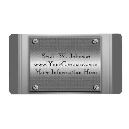 Etiquetas de encargo de la mirada del metal del etiquetas de envío