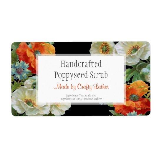 Etiquetas de encargo de los Cornflowers del jabón