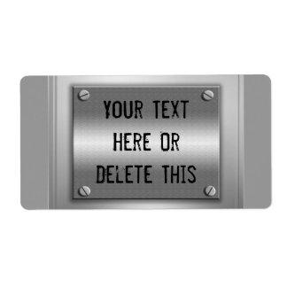 Etiquetas de encargo del letrero del metal etiquetas de envío