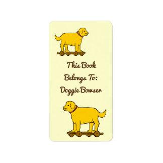Etiquetas de encargo del libro del perro de