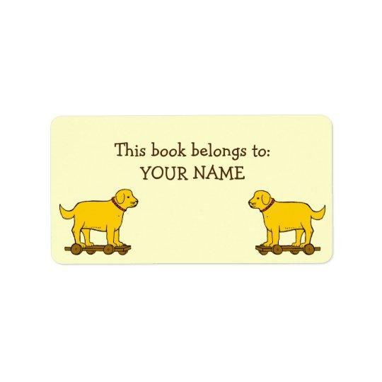 Etiquetas de encargo del libro del perro de etiqueta de dirección