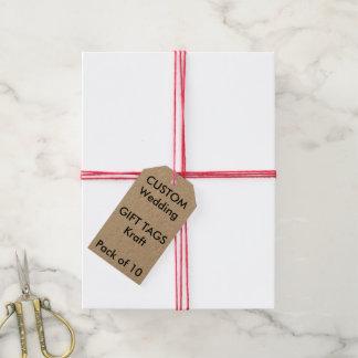 Etiquetas de encargo del regalo de KRAFT (10), Etiquetas Para Regalos