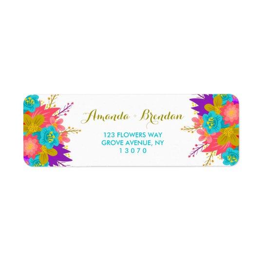 Etiquetas de encargo del remite con las flores