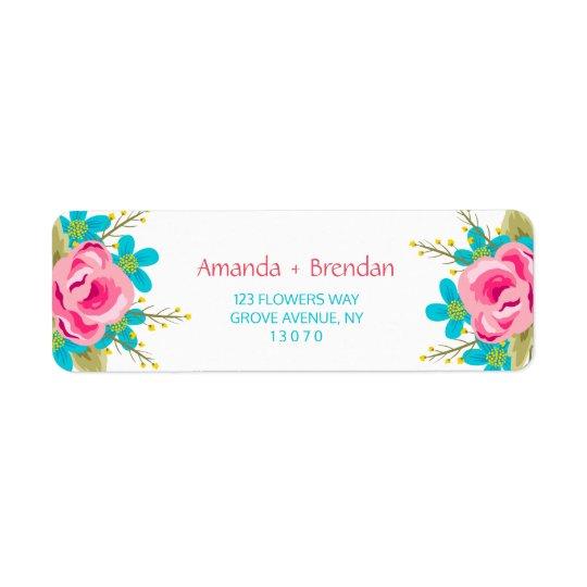 Etiquetas de encargo del remite con las flores etiqueta de remitente
