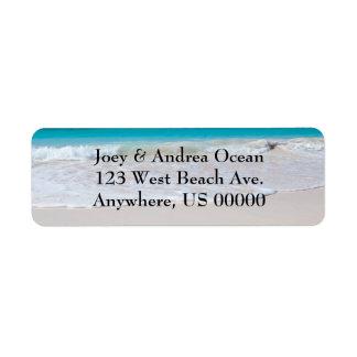Etiquetas de encargo del remite de la playa y del