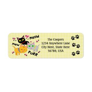 Etiquetas de encargo del remite del arte del gato