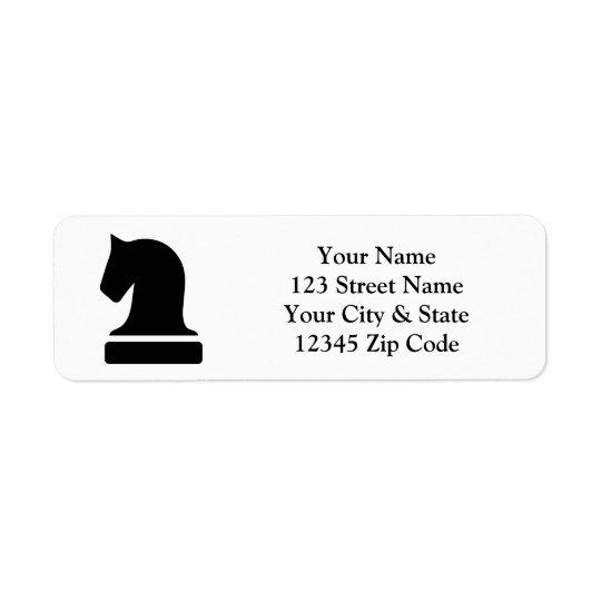 Etiquetas de encargo del remite del logotipo del etiqueta de remite