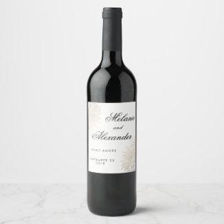 Etiquetas de encargo del vino del cordón del
