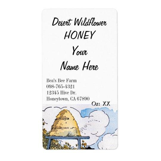Etiquetas de enlatado de la miel de encargo de la etiqueta de envío