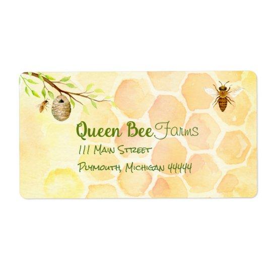 Etiquetas de envío de la miel del colmenar de la