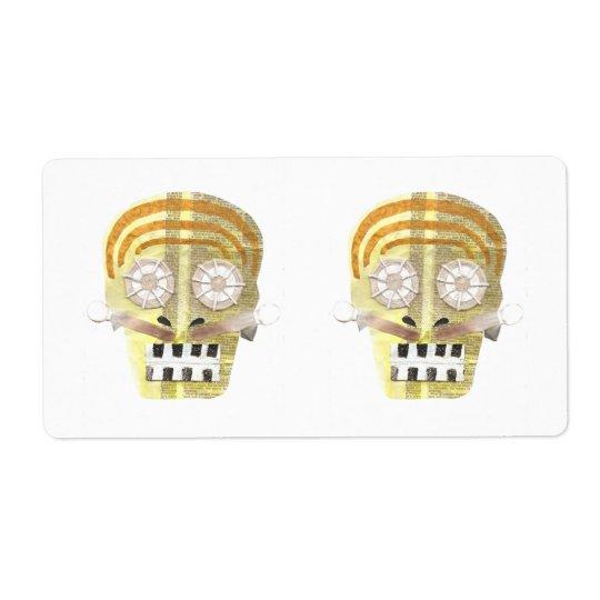 Etiquetas de envío musicales del cráneo