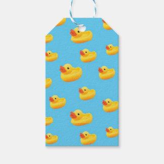 Etiquetas de goma del regalo del pato