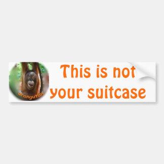 Etiquetas de identificación de la maleta de las va pegatina para coche