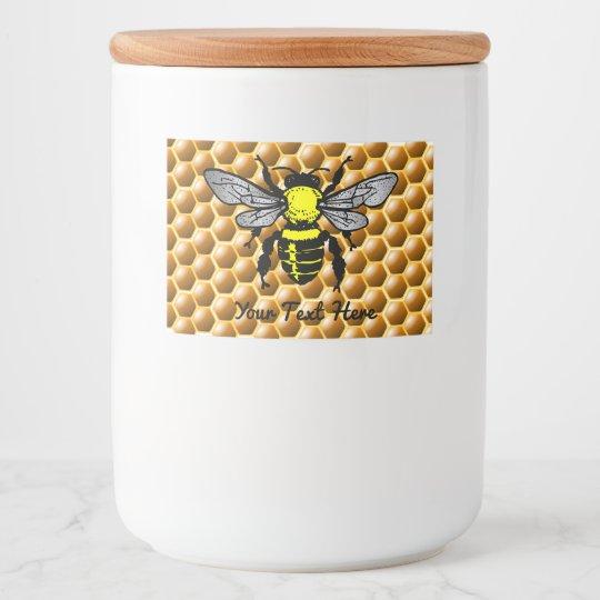 Etiquetas de la abeja del tarro de la miel del