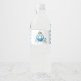 Etiquetas de la botella de agua de Cenicienta