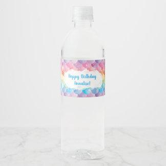 Etiquetas de la botella de agua de la sirena del