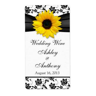 Etiquetas de la botella de vino del boda del damas etiquetas de envío